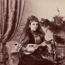 Young woman with lute or mandolin